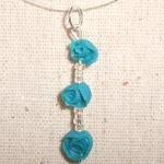 Deep Teal Rose Necklace